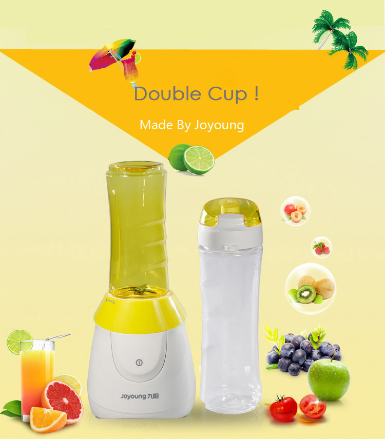 250W Household Juicer Multifunctional Automatic Mixer Portable Juicer 600Ml Large Capacity Intimate Design Suitable for Fruits and Vegetables