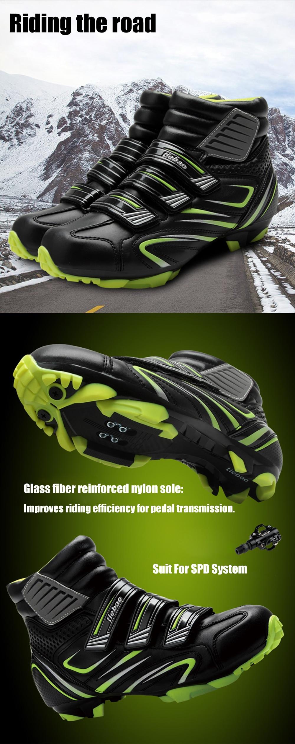 Tiebao ciclismo sapatos de inverno spd pedal