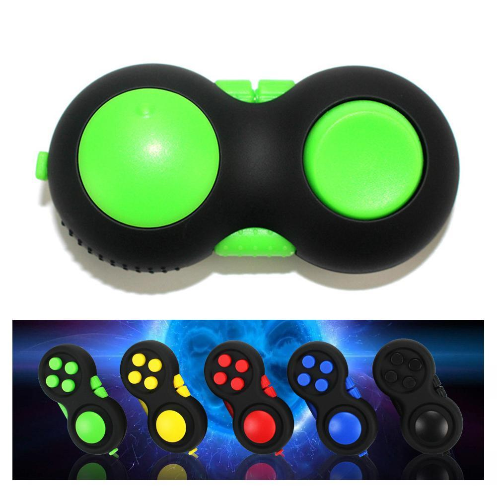 Fidget Handle Hand Spinner Stress Reliever Finger Toy 6 Functions Fidget Hand Shank Pad Funny Game Toy For Kids Adults
