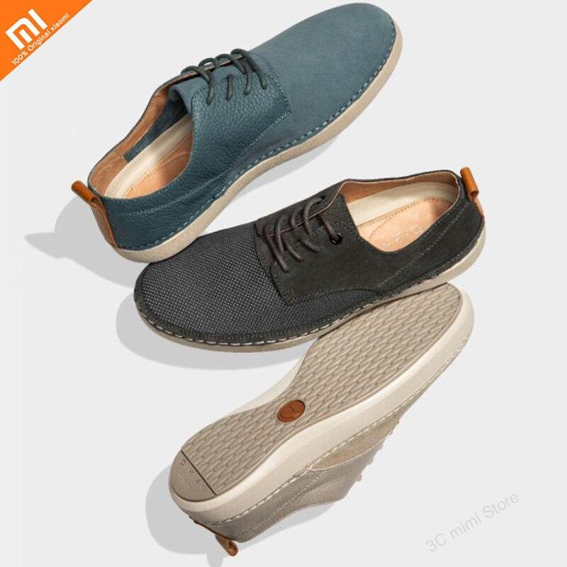 Xiaomi mijia hommes de haute qualité printemps et été respirant léger chaussures décontractées simples pour chaussures en cuir