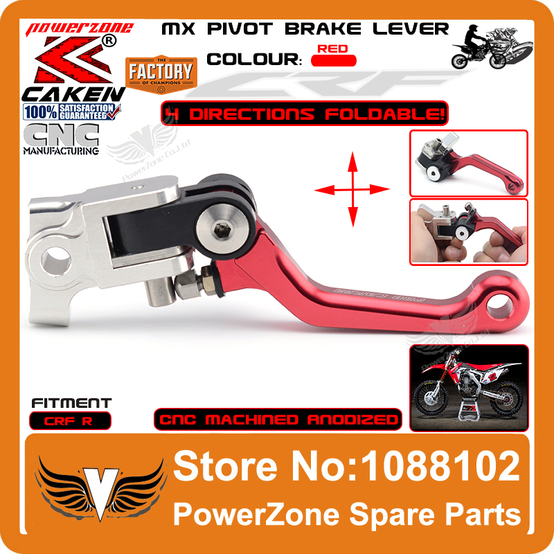 Foldable MX Pivot Brake Lever 4 Directions Fit CRF250R CRF450R 07-15 CRF Dirt Bike Motocross Enduro Supermoto Free Shipping cnc gear shifter shift lever 7108 for crf250r 04 09 crf250x 04 09 crf450r 02 motorcycle motocross mx enduro dirt bike off road
