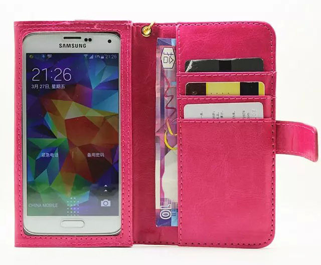 Strap Card Wallet Touch Screen Mobile Phone Leather Case For Sony Xperia L2/XA2,Wiko View Prime/Tommy 2 Plus/Sunny 2 Plus