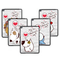 Cute Janpan Cartoon Pattern Painted Case for ipad 5 Tablet Back Cover iPad Air Free Screen Protector