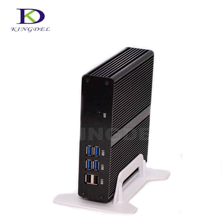 Fanless barebone mini PC Intel Celeron 2955U/3205U HDMI VGA LAN USB3.0 300M WIFI HD Graphics TV BOX Micro computer