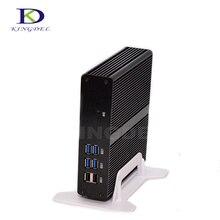Без вентилятора Barebone мини-ПК Intel Celeron 2955U/3205U HDMI VGA LAN USB3.0 300 м WI-FI HD Графика ТВ коробка микро-компьютер NC590