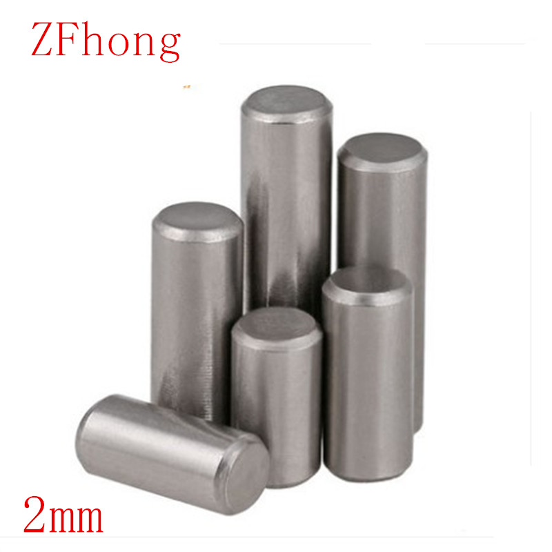 100PCS M2 2mm Length 6mm To 20mm  Parallel Pins Dowel Pins GB119 304 Stainless Steel Cylindrical Pin Tension Roll Pins