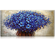IARTS Thick Textured Handmade Knife Tree Oil Painting Canvas Wall Art Modern For Living Room Decoration 3 Colors Different Sizes