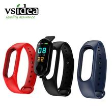 VS M3 עמיד למים חכם להקת בריאות ספורט צמיד מד צעדים צבע מסך חכם צמיד שעון חכם עבור iphone HUAWEI XIAOMI