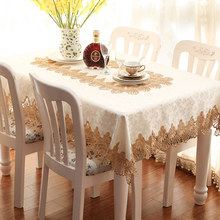 HAPIBEIHPB Waterproof Open work Embroidery Pastoral Dining Table Cloth Trade Coffee Textile TableCloth Dust cover towel