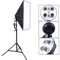 NEW Photographic Lighting 4 Socket Lamp With 20 X28 50cm X 70cm Softbox For Digital Photo
