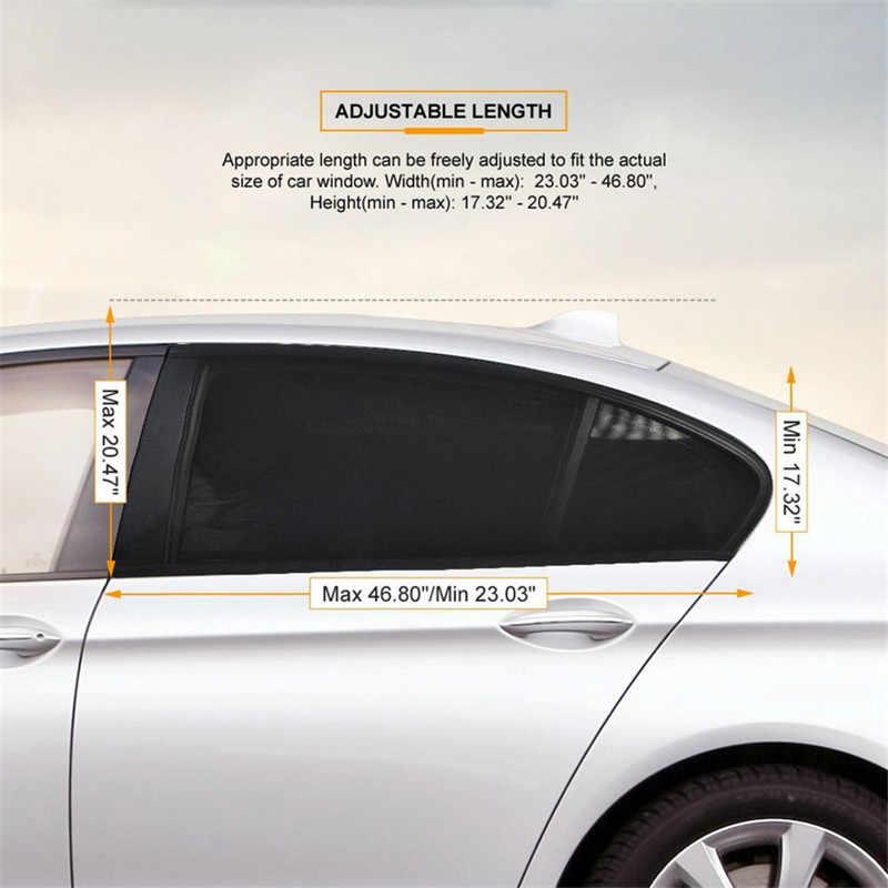 2 個車の窓カバー日よけカーテン uv 保護シールドサン窓プロテクター窓車のアクセサリー