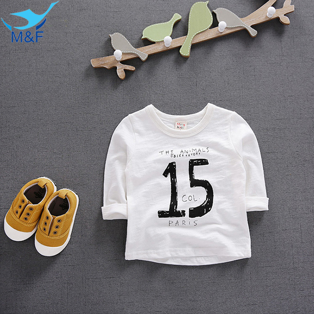 cfb294be3 M F Autumn Baby T shirt Fashion New Arrival Children Length Sleeve ...