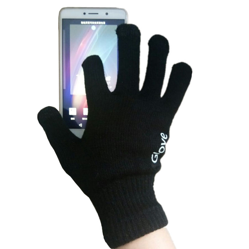 2019 New Unisex Cotton Touched Screen Gloves Fashion Warm Adult Solid Colors Mittens Man Women Winter Windproof Wrist Gloves in Men 39 s Gloves from Apparel Accessories