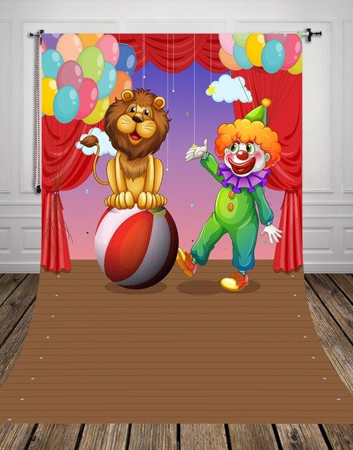 Huayi dei cartoni animati per bambini fondale circo troupe