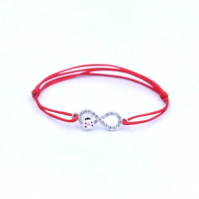 17477d648a73 € 0.79 30% de DESCUENTO Minimalismo plata Color circón Digital 8 Infinity  pulsera hilo rojo cuerda trenza pulseras para mujeres Lucky Jewelry ...