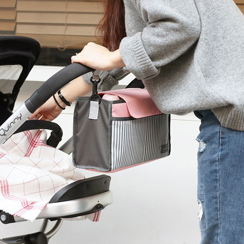 HTB1ARXWr5MnBKNjSZFzq6A qVXaK Baby Stroller Bag Nappy Diaper Mummy Bag Hanging Basket Storage Organizer Baby Travel Feeding Bottle Bag Stroller Accessories