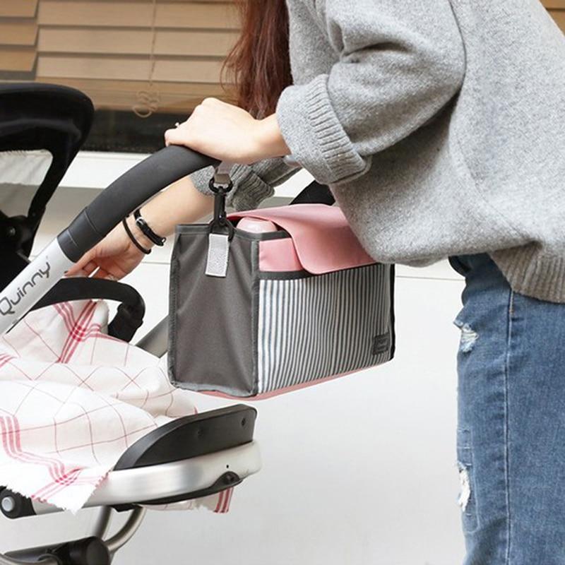 HTB1ARXWr5MnBKNjSZFzq6A qVXaK Baby Stroller Bag Nappy Diaper Mummy Bag Hanging Basket Storage Organizer Baby Travel Feeding Bottle Bag Stroller Accessories