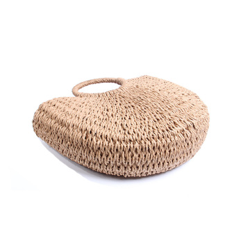 BRIGGS New 2018 Summer Beach Bag Hand Woven Straw Bags Fashion Women Casual Tote Large Capacity Shopping Bags Women Handbags 1