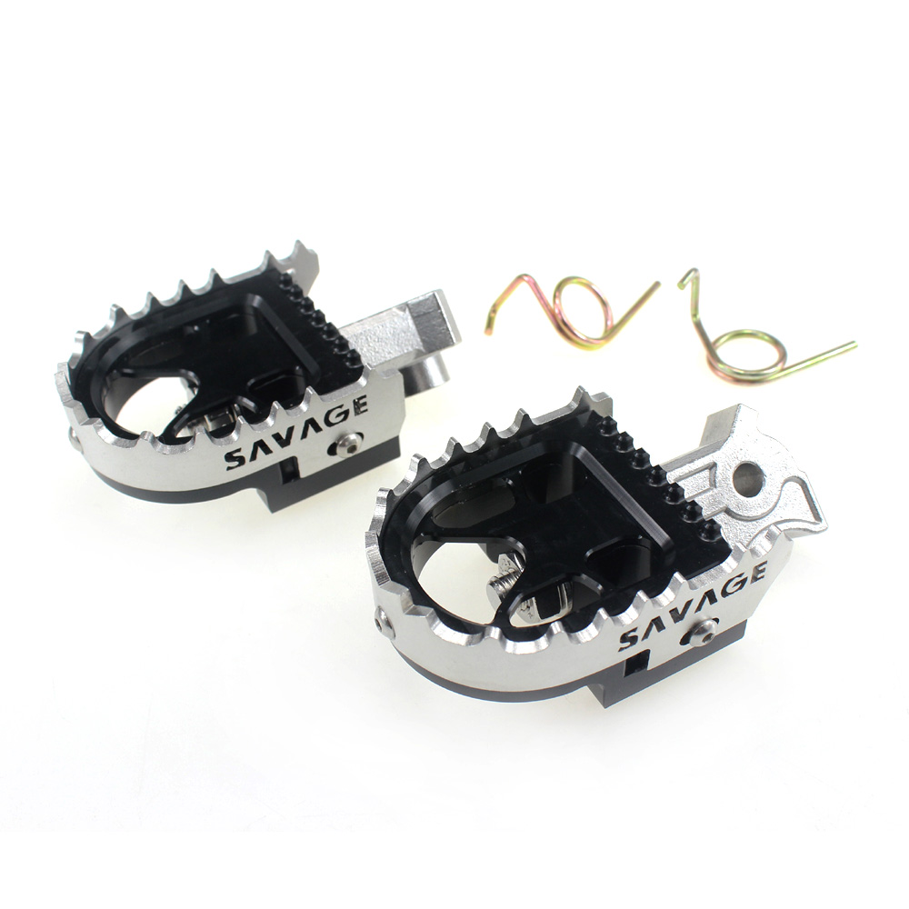 Wide Enduro Foot Pegs Tilt Angle Adjustable Footpeg For BMW R1200GS LC Adventure