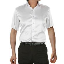 Silk Shirt Short-Sleeve 5XL Summer Men Male Brand Leisure Hot-Sale Plus-Size High-Quality