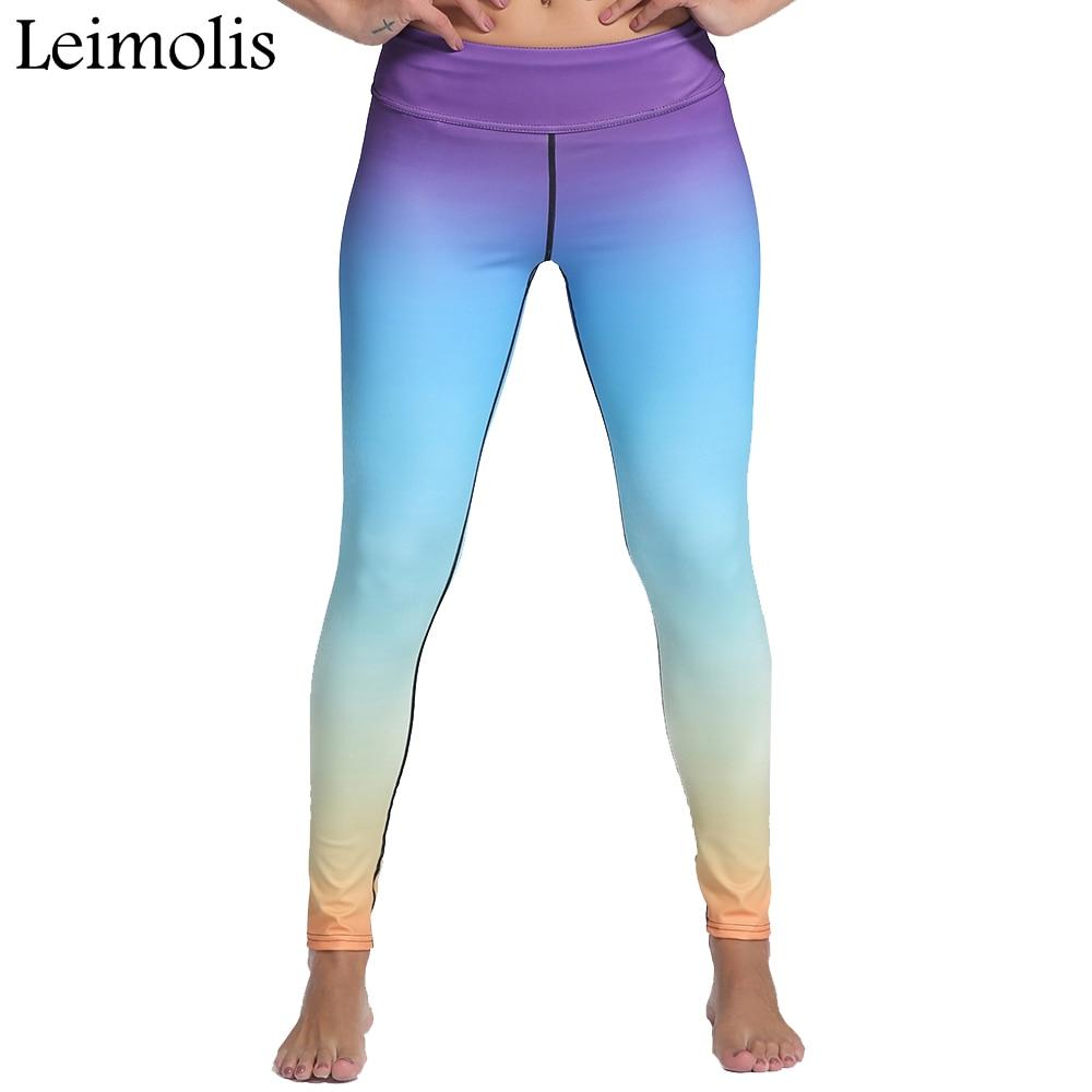 Leimolis 3D print <font><b>Rhapsody</b></font> <font><b>in</b></font> <font><b>blue</b></font> winter Harajuku High Waist workout push up plus size fitness leggings women pants