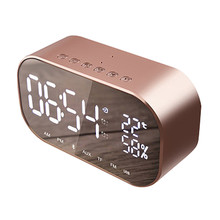 2019 S2 Mini Bluetooth Wireless Super Bass Speaker TF Card Audio Alarm Clock Home New Fashion Travel portable Bluetooth speakers цена и фото