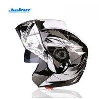 Popular JIEKAI JK105 Double lens Motorcycle helmet ABS Flip Up Helmet Open Face Motorbike helmets have 8 color Size M L XL XXL