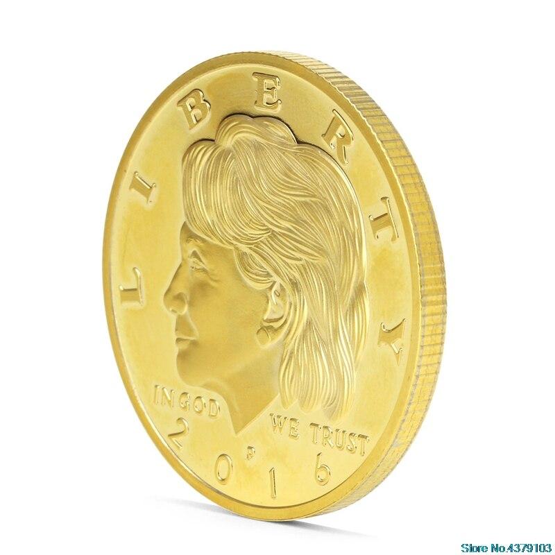 Hillary Clinton Design Commemorative Coin Zinc Alloy Commemorative Coin Collection