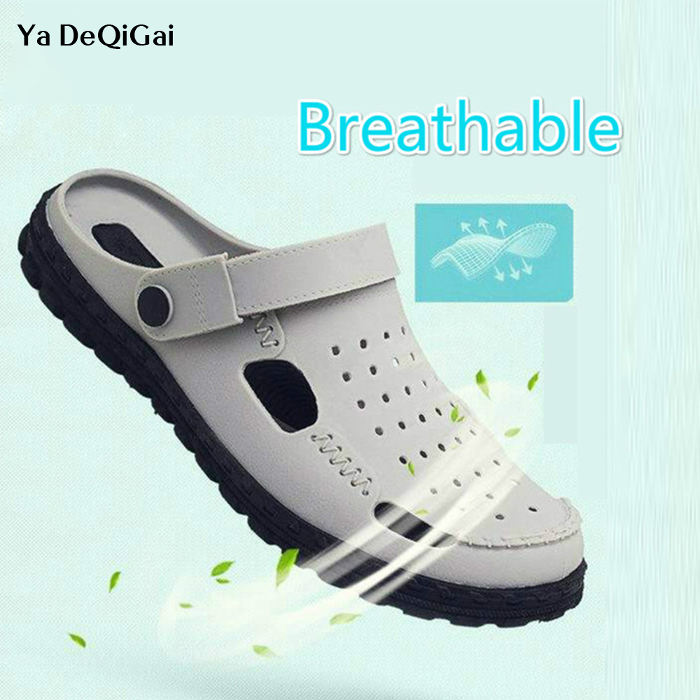 2019 New Medical Doctor Shoes Men's Hole Sandals And Slippers Surgical Lab Scrub Waterproof Non-slip Breathable Surgical Shoes