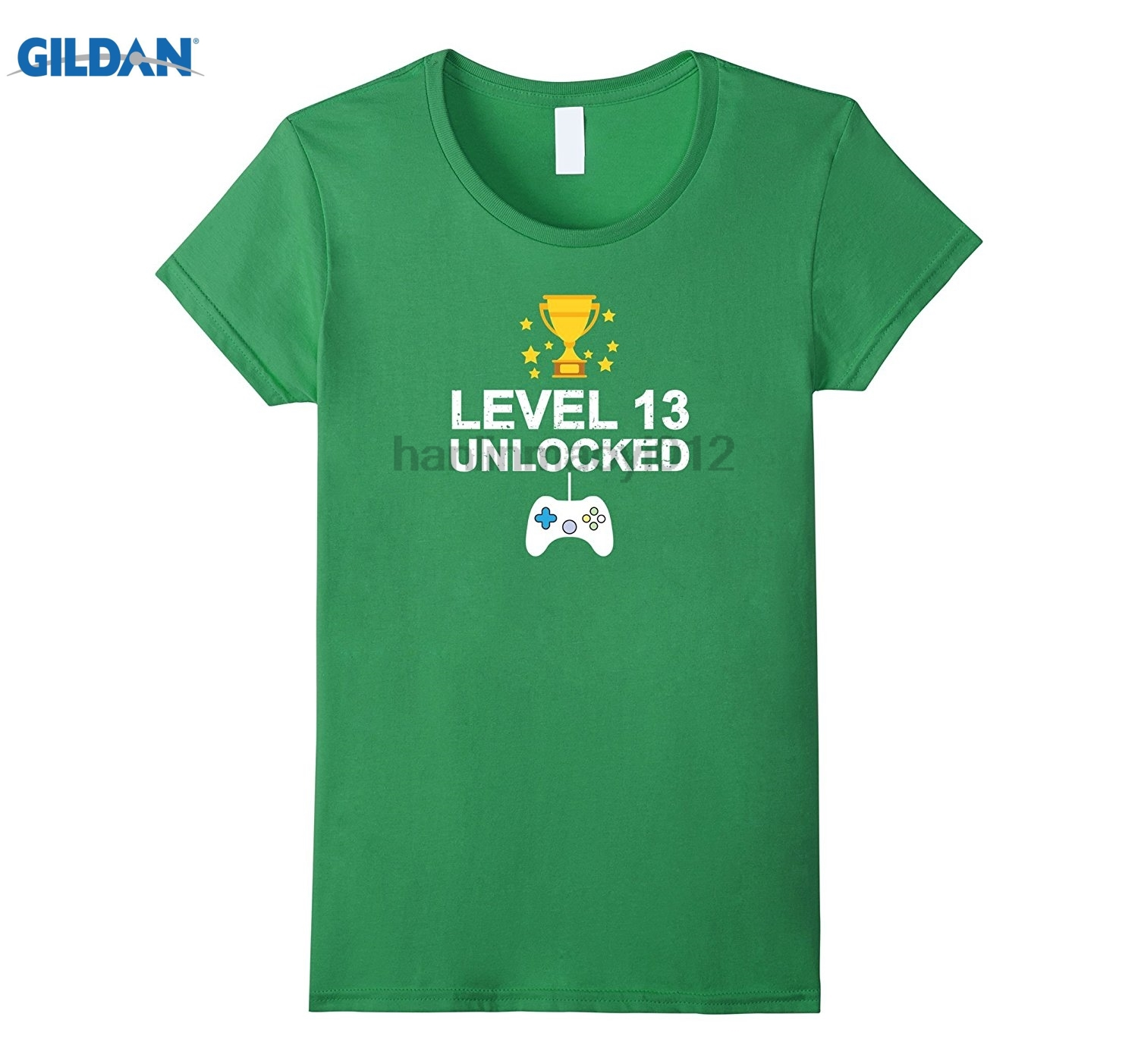 GILDAN 13th Birthday Level 13 Unlocked Funny T-shirt Gamer Gift Kid GILDAN brand clothin ...