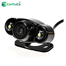 New HD Night Vision Car Rear View Reverse Camera Car Backup Rear Parking Camera with 2 LED for Car Monitor DVD VCR Dropshipping