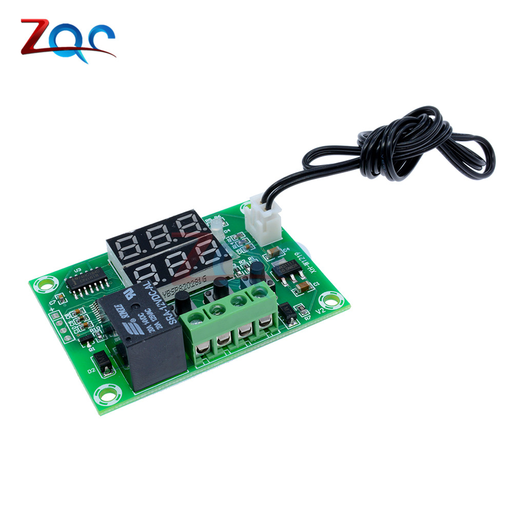 W1209WK W1209 WK W1219 DC 12V LED Digital Thermostat Temperature Control Thermometer Thermo Controller Switch Module +NTC Sensor 14