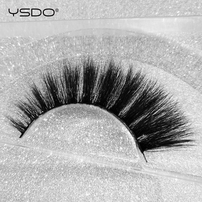 ysdo 1 pair 3d mink eyelashes natural long 100 dramatic thick fake lashes makeup lashes false eyelashes makeup mink eyelashes in False Eyelashes from Beauty Health