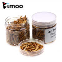 Bimoo 1 Bottle Carp Fishing Bait Dry Bread Worm Fresh Water Fish Insect Baits Mealworms