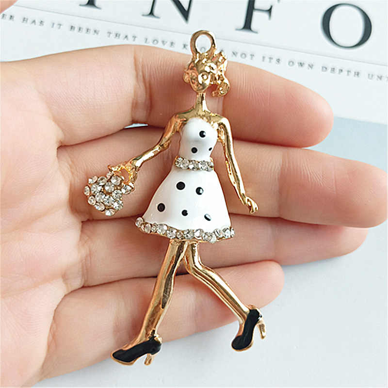 2Pcs Bell Pendant Crystal Small Pendant Diy Material Bag Jewelry Accessories Bracelet Necklace Material Handmade Crafts Pendant Charm