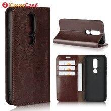 ( For Nokia 6.1 Plus ) Cases Luxury Leather Wallet For Nokia