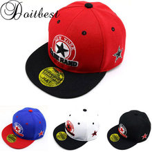 Doitbest 2 to 8 Years old Child Baseball Cap summer Spring Hip Hop kids Sun Hat pentagram letters Boys Girls snapback Caps(China)