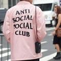 ANTI SOCIAL SOCIAL CLUB Jacket Men Spring Autumn Windbreak Outcoats Women 2017 New Arrive Brand Clothing Lovers Pink Jacket XXL