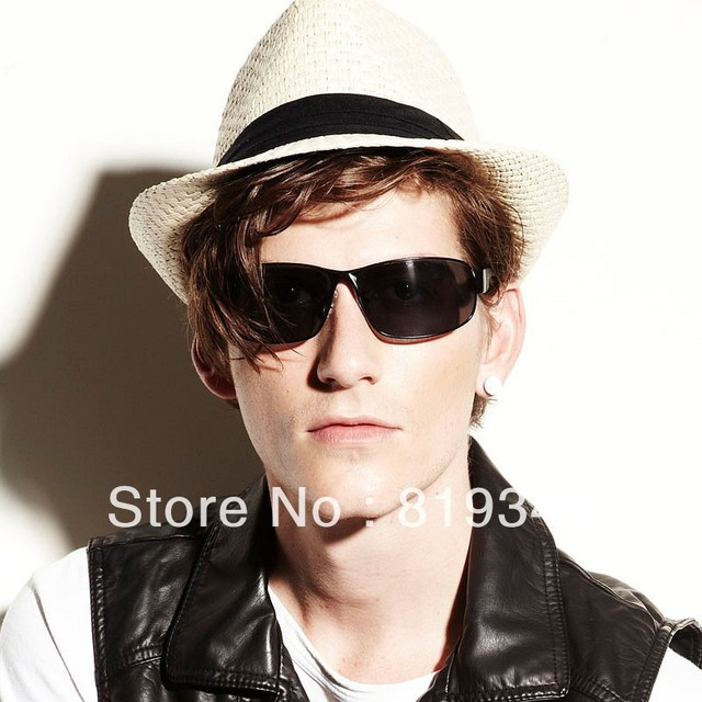 VANCL Men Sunglasses Arvin Trendy Sunglasses Mock Alloy Polaroid Adjustable Silicone Nose Pads Slim Arms Black FREE SHIPPING