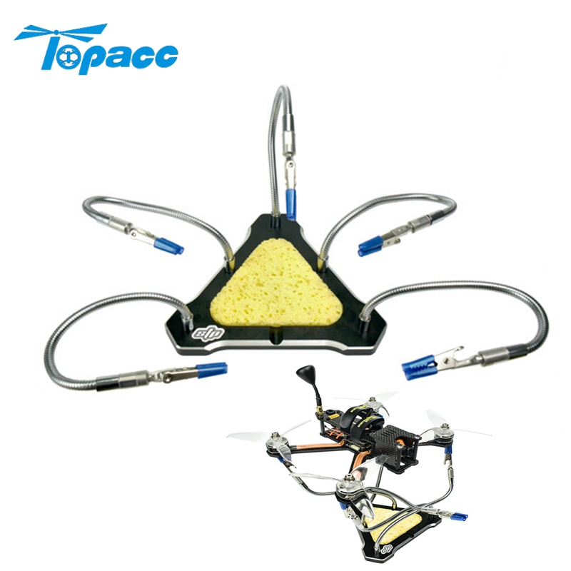 Five Arms Aluminum Alloy CNC Functional Strange Five Hand Triangle Soldering Station for RC Drone Helicopter Toys Tools DIY