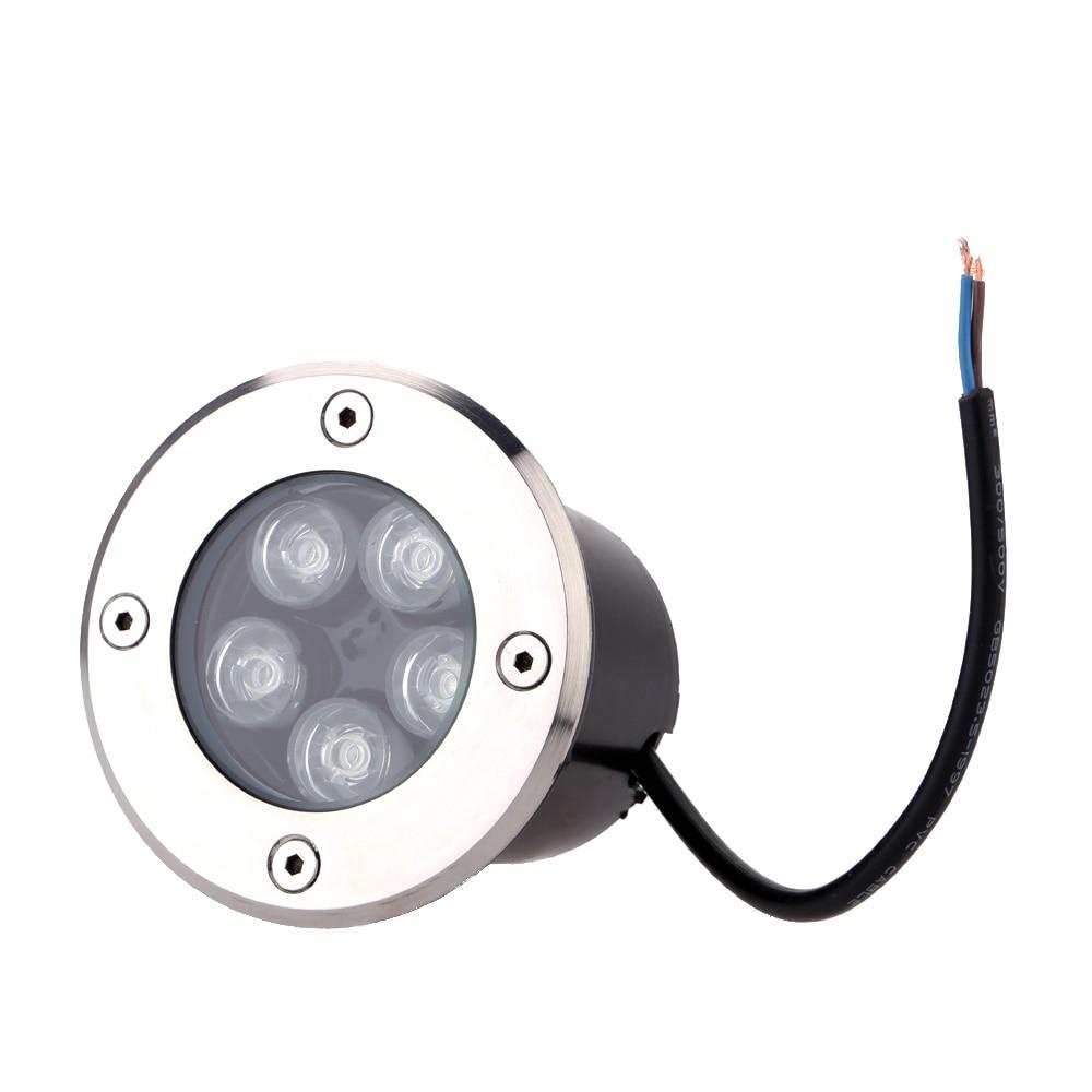 5W LED Underground Light, Led Outdoor In Ground Garden Square Flood Spotlight Waterproof Landscape Light Lamp Bulb 85-265V
