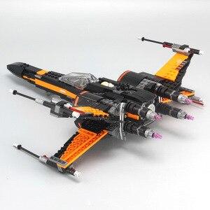 Image 3 - Star Wars 75149 75218 Blocchi di Primo Ordine delle Poe X wing Fighter Blocchi di Costruzione di Modello Star wars Giocattoli Dei Mattoni regalo Per Bambini