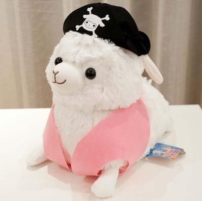 1pc 30cm Lovely Pirate Sheep Plush Toy Staffed Creative Alpaca Plush Doll Birthday Gift