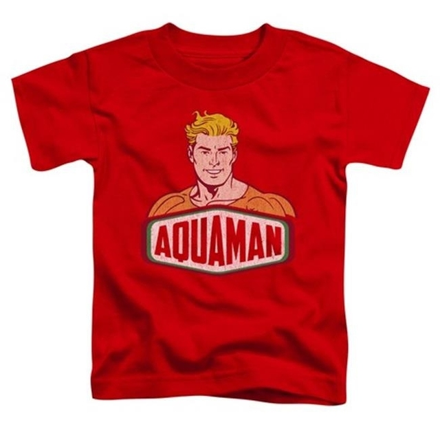 Trevco Dco-Aquaman Sign – Short Sleeve Toddler Tee – Red Large 4T