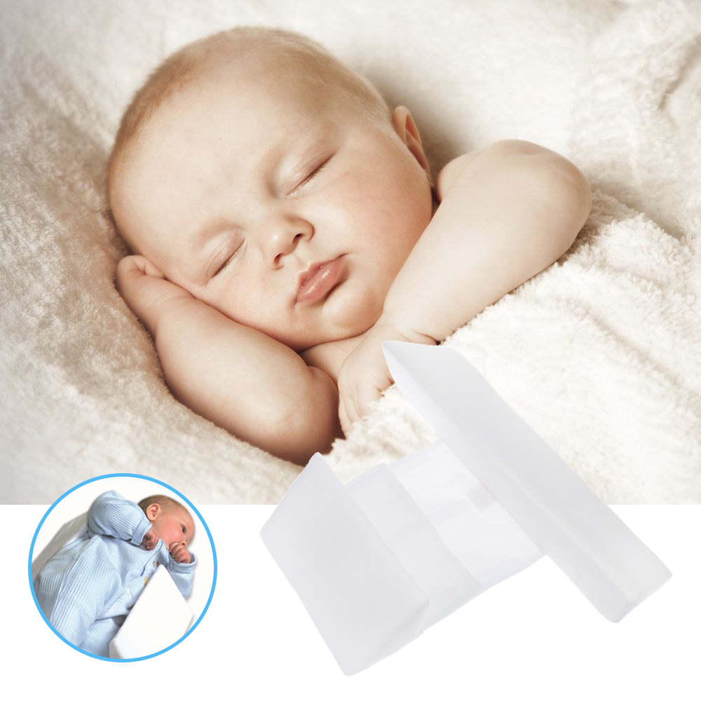 Infant Baby Toddler Safe Cotton Anti Roll Pillow Sleep