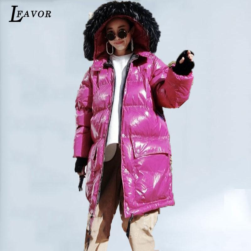 2018 Lâche Fourrure Long Veste Black 436 Et D'hiver Chaud Réel Femme Épais Manteau Nouveau Red De Col Hiver green rose Femmes Lumineux Coréenne Parka Coton wE8zq4