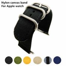 все цены на New arrive sport woven nylon for apple watch band 38mm 42mm wrist braclet adjust nylon for iwatch strap series 1/2/3 онлайн
