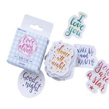 45pcs/lot Colorful Words optimistic Talk Paper Lable Scrapbooking Stickers DIY Diary Album Encourage Love Notes Collection