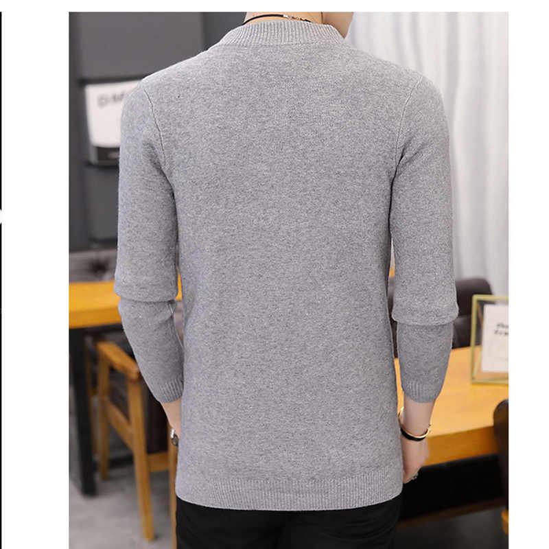 2019 горячая Распродажа брендовая одежда весенний кардиган мужской модный качественный хлопковый свитер мужской повседневный серый красный мужской s свитера OK147
