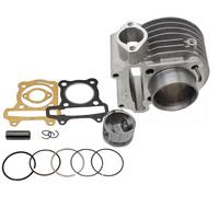 High Performance Big Bore Aluminum Cylinder Kit 100CC 50mm For 139QMB GY6 50cc 80CC ATV Scooter